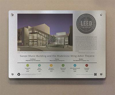 School LEED Plaque